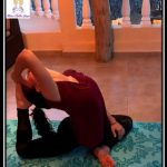 Eka Pada Rajkapotasana - Yoga Teacher Training Course - Sthira Chitta Yog