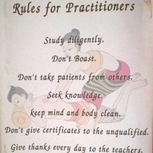 Masaje Tailandes - Reglas del Practicante - Sthira Chitta Yoga