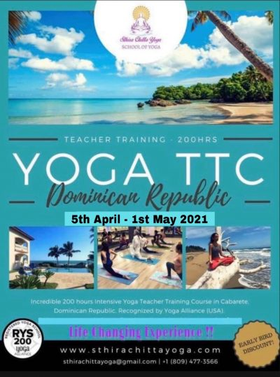 Yoga Teacher Training Course 200 Hours - YTTC 200 - Sthira Chitta Yoga - April 2021